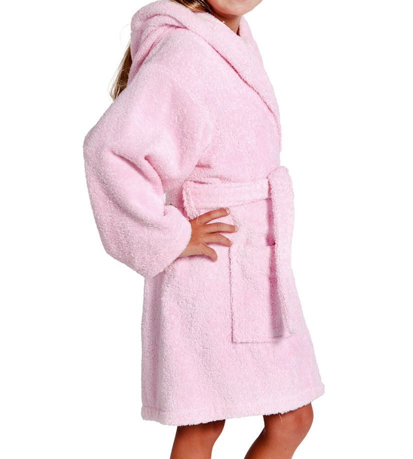 485fc3fc4f Toddler hooded bathrobes. Pink dressing gown for girl s