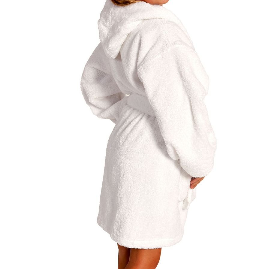 28c2e2fb3f White hooded bathrobes for kids